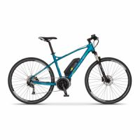 Elektrobicykel cross Apache Matto Bosch Active Plus 400 Wh modrá 2018