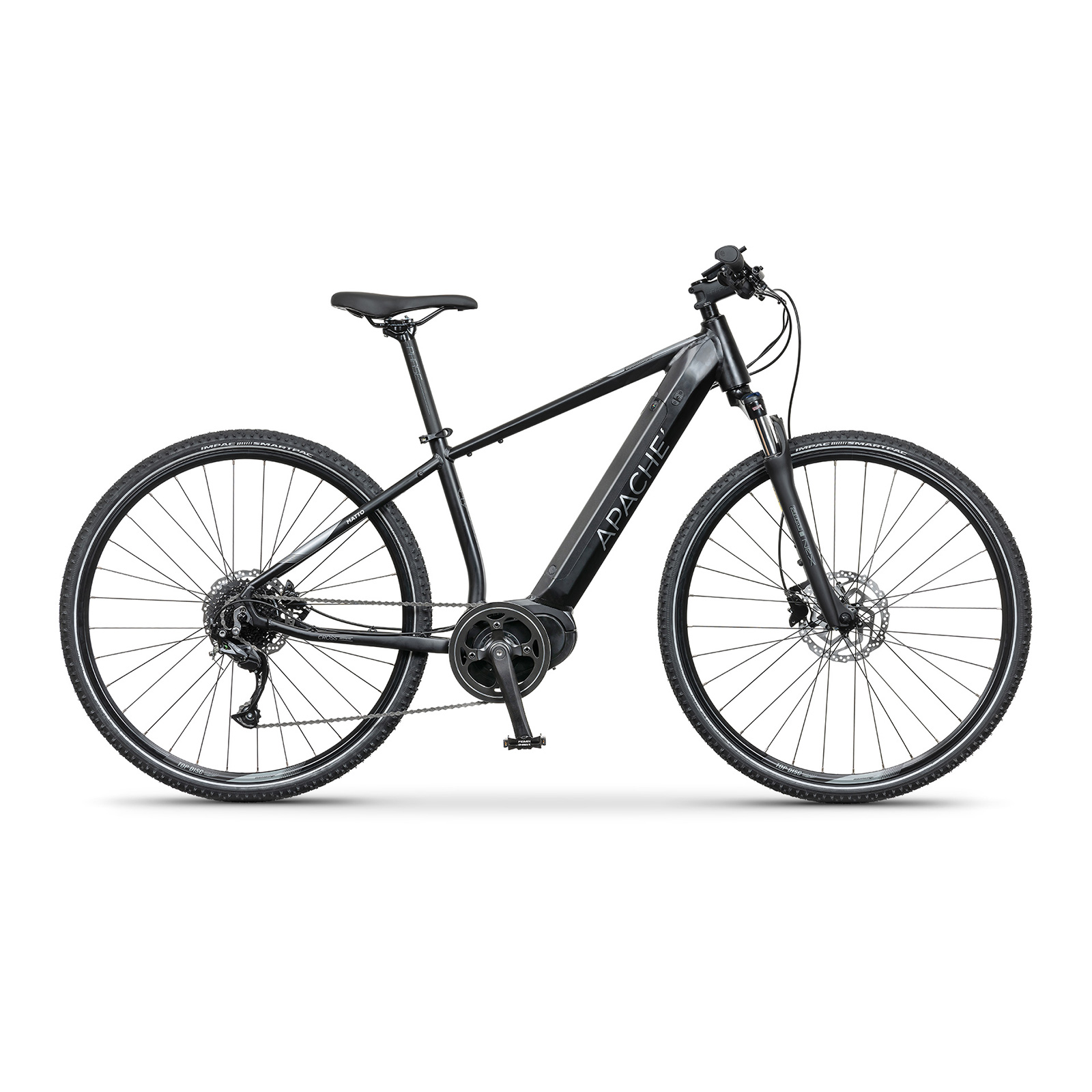 Elektrobicykel krosové Apache Matto MX-I G2 all black
